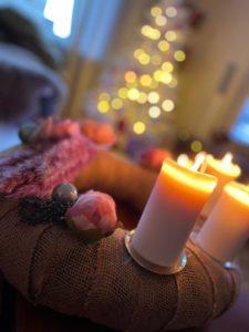 Kranz mit Kerze