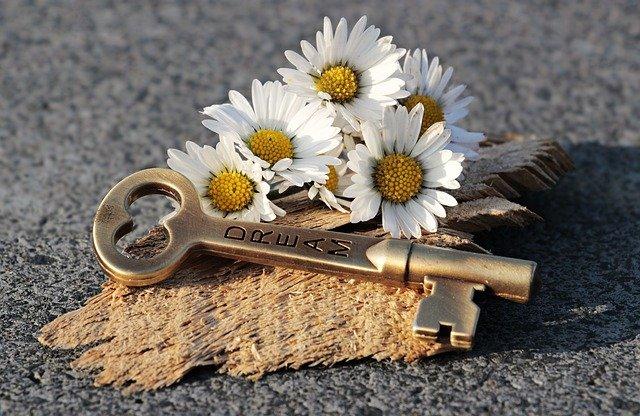 Schlüssel zu öffnen